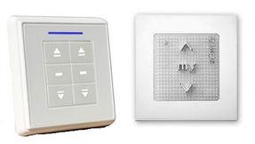 Настенные кнопки для управления рулонными шторами с электроприводом