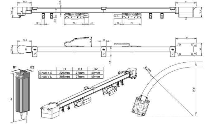 Техническая схема электрокарниза