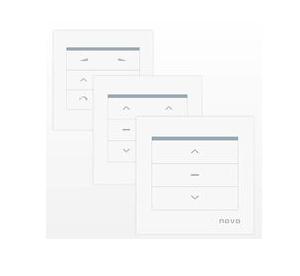 Настенные кнопки для управления электрокарнизом Novo