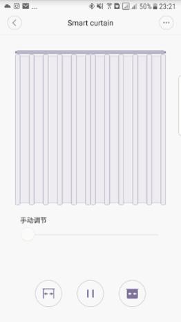 Закрытое положение автоматических штор Xiaomi